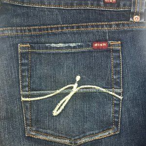 Dish Jeans Size 33 with 4 inch Cuff with Rivets
